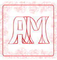 AM monogram vector image