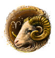 aries is a sign zodiac vector image