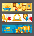 awards and trophy banners vector image vector image
