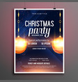 beautiful christmas party flyer design with vector image vector image