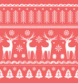 beautiful seamless pattern with gorgeous deer and vector image vector image