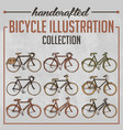 bicycle collection vector image