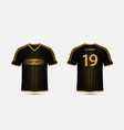 black and gold pattern sport football kits vector image vector image