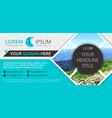 business flyer design vector image vector image
