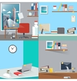 Business Interior Set Office Work Place vector image vector image