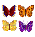 Butterflies various mountain meadow and forest vector image vector image