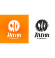 cooking cuisine logo icon and label for design vector image vector image