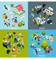 Coworking Concept Icons Set vector image vector image