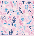 cute pastel hand drawn doodles seamless pattern vector image