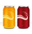 design template can cola orange juice drink vector image vector image