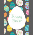 easter egg frame trmplate bright colored vector image