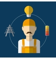 Electric technician man vector image vector image