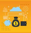 fintech business concept vector image