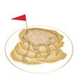 Five Tradition Pancakes with Icing and Honey vector image