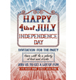 fourth july invitation vector image vector image