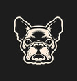 french bulldog head outline cut out silhouette vector image