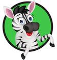 funny zebra vector image