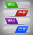 Glass banner with ribbon vector image vector image