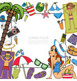 hand drawn beach vacation template vector image vector image