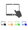 hand pointer tablet icon vector image