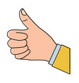 hand thumb up like finger gesture vector image