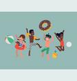 happy beach summer kids vector image vector image