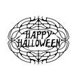 happy halloween greeting card happy halloween vector image vector image