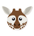 isolated giraffe face vector image