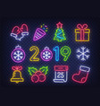 isolated icon christmas set new year vector image