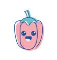kawaii cute happy pepper vegetable vector image vector image