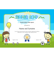 Kids summer camp certificate document template vector image vector image
