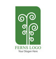 leaf a green fern logo vector image