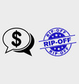 linear financial chat messages icon and vector image vector image