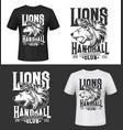 lion tshirt print king animals mascot vector image