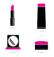 make up icon set in colorful vector image