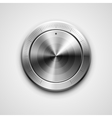 Metallic knob vector image