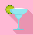mexican cocktail icon flat style vector image