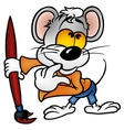 mouse painter vector image vector image
