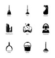 neat icons set simple style vector image vector image