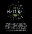 organic handwritten font natural vector image vector image