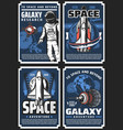 outer space adventure galaxy research posters vector image vector image