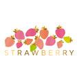 pastel color strawberry design element vector image vector image