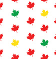 Pattern maple leaves vector image