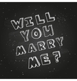 Poster template for marriage proposal design vector image vector image
