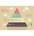 Pyramid Chart Flat Style Infographic vector image vector image