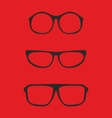 Red nerd glasses for professor or secretary vector image vector image
