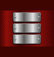 red perforated background with iron metal plates vector image vector image