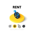 Rent icon in different style vector image vector image