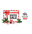 sale ribbon banner vector image vector image
