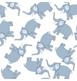 Seamless Funny Cartoon Elephant vector image